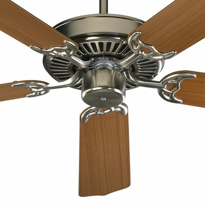 42 Staffordshire 5-Blade Ceiling Fan Finish: Satin Nickel with Teak / Walnut Blades