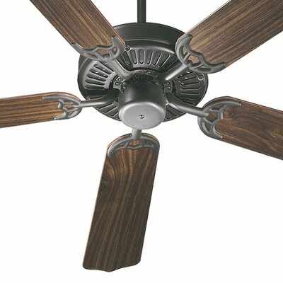 42 Staffordshire 5-Blade Ceiling Fan Finish: Old World with Rosewood / Walnut Blades