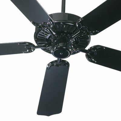 42 Staffordshire 5-Blade Ceiling Fan Finish: Gloss Black with Black Blades