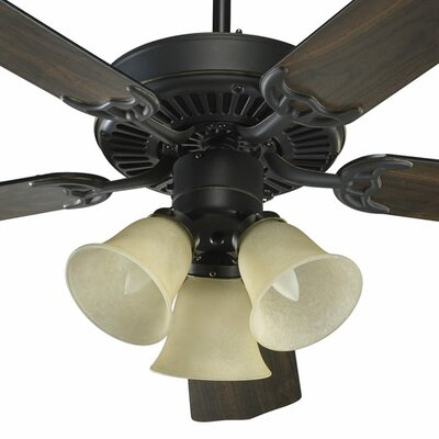 52 Staffordshire 5-Blade Ceiling Fan Finish: Old World with Old World/Walnut Blades, Glass Type: Amber Scavo Glass
