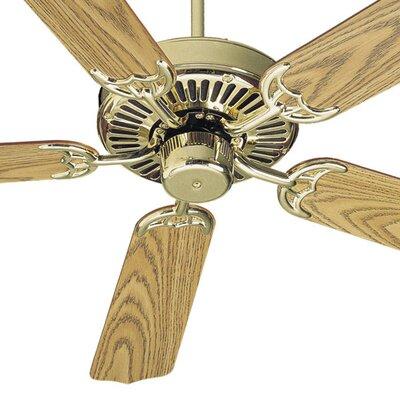 52 Staffordshire 5-Blade Energy Star Ceiling Fan Finish: Polished Brass with Medium/Light Oak Blades
