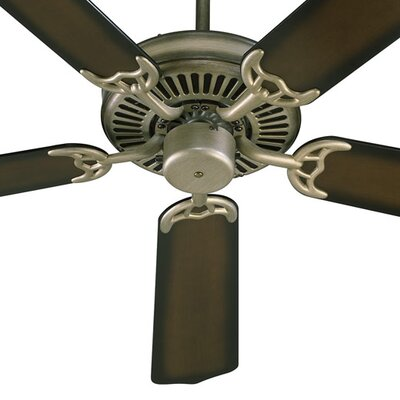 52 Staffordshire 5-Blade Energy Star Ceiling Fan Finish: Antique Flemish with Flemish/Pecan Blades