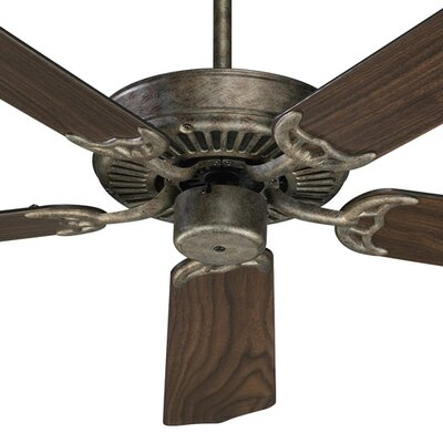 52 Staffordshire 5-Blade Energy Star Ceiling Fan Finish: Mystic Silver with Silver/Walnut Blades