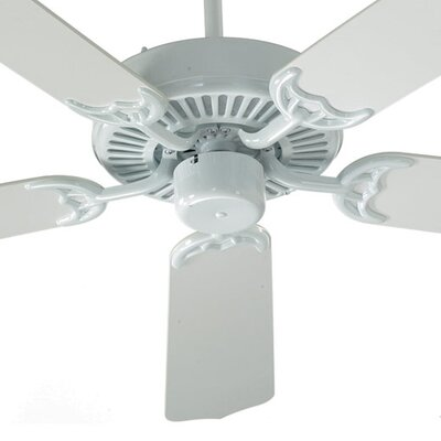 52 Staffordshire 5-Blade Energy Star Ceiling Fan Finish: Capri White with White Blades