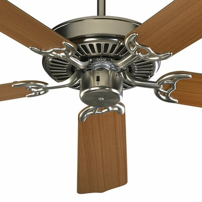 52 Staffordshire 5-Blade Energy Star Ceiling Fan Finish: Satin Nickel with Teak/Walnut Blades