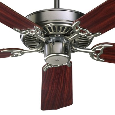 52 Staffordshire 5-Blade Energy Star Ceiling Fan Finish: Satin Nickel with Dark Oak/Rosewood Blades