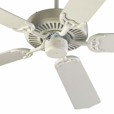 52 Staffordshire 5-Blade Energy Star Ceiling Fan Finish: Capri Studio White with White Blades