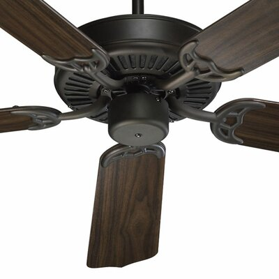52 Staffordshire 5-Blade Energy Star Ceiling Fan Finish: Oiled Bronze with Teak/Walnut Blades