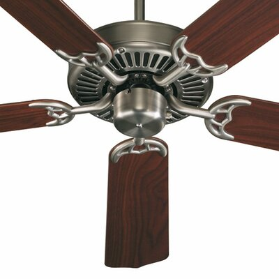 52 Staffordshire 5-Blade Energy Star Ceiling Fan Finish: Antique Silver with Rosewood/Walnut Blades