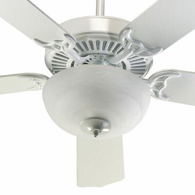 52 Staffordshire 5-Blade Ceiling Fan Finish: White with White Blades