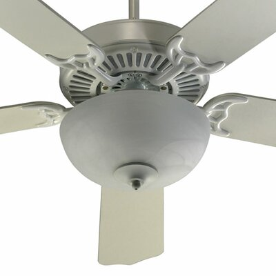 52 Staffordshire 5-Blade Ceiling Fan Finish: Studio White with Studio White Blades