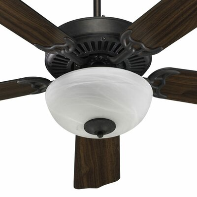 52 Staffordshire 5-Blade Ceiling Fan Finish: Toasted Sienna with Toasted Sienna/Walnut Blades