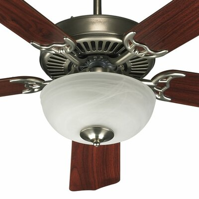 52 Staffordshire 5-Blade Ceiling Fan Finish: Satin Nickel with Dark Oak/Rosewood Blades