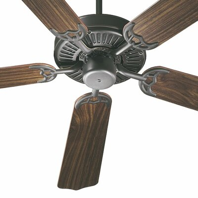 52 Staffordshire 5-Blade Energy Star Ceiling Fan Finish: Old World with Rosewood/Walnut Blades
