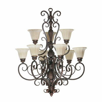 Coronado 9-Light Shaded Chandelier