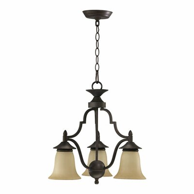 Coventry 3-Light Shaded Chandelier Finish: Toasted Sienna