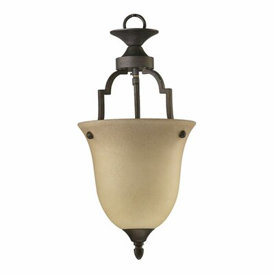 Coventry 1-Light Convertible Inverted Pendant Size: Small, Finish: Toasted Sienna