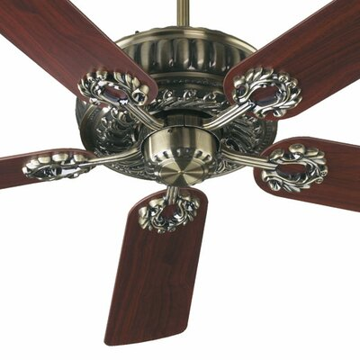 52 Empress 5-Blade Ceiling Fan Finish: Antique Brass with Medium Oak/Rosewood Blades