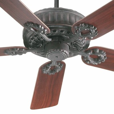 52 Empress 5-Blade Ceiling Fan Finish: Toasted Sienna with Rosewood/Walnut Blades
