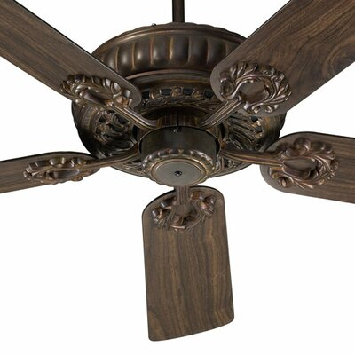 52 Empress 5-Blade Ceiling Fan Finish: Corsican Gold with Coriscan Gold / Walnut Blades