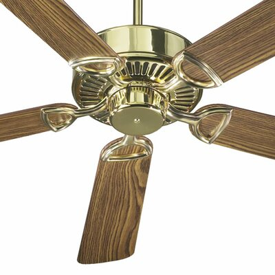 52 Estate 5-Blade Ceiling Fan Finish: Polished Brass with Dark/Medium Oak Blades