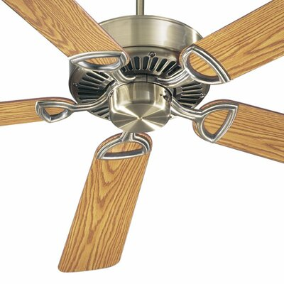 52 Estate 5-Blade Ceiling Fan Finish: Antique Brass with Dark/Medium Oak Blades