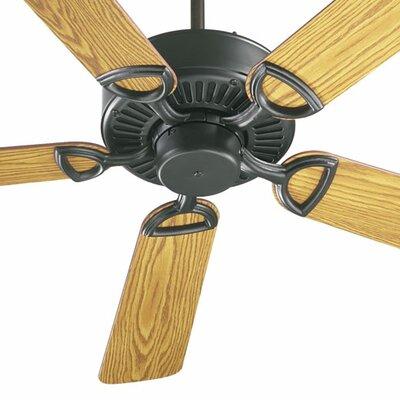 52 Estate 5-Blade Ceiling Fan Finish: Matte Black with Medium Oak/Walnut Blades