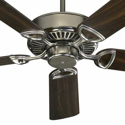 52 Estate 5-Blade Ceiling Fan Finish: Satin Nickel with Teak/Walnut Blades