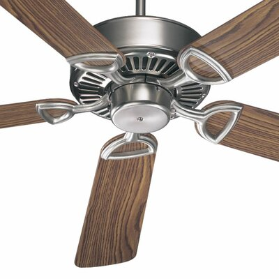 52 Estate 5-Blade Ceiling Fan Finish: Satin Nickel with Dark Oak/Rosewood Blades