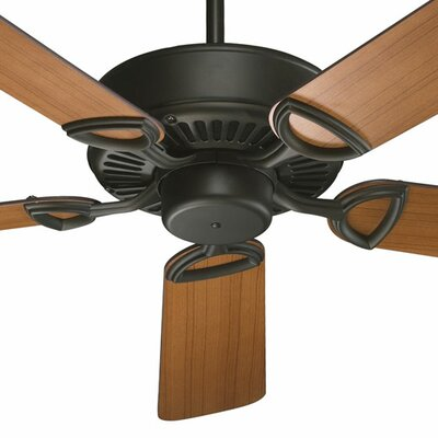 52 Estate 5-Blade Ceiling Fan Finish: Oiled Bronze with Teak / Walnut Blades