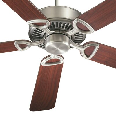 52 Estate 5-Blade Ceiling Fan Finish: Antique Silver with Rosewood / Walnut Blades
