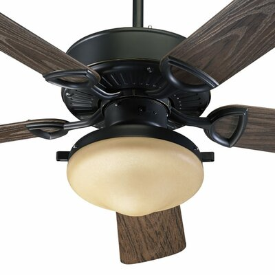 52 Schiller 5-Blade Patio Ceiling Fan Finish: Old World with Walnut Blades