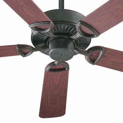 52 Estate Patio 5 Blade Ceiling Fan - Energy Star Finish: Toasted Sienna with Rosewood Blades
