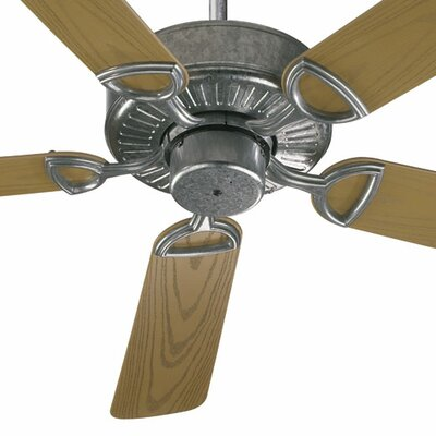 52 Estate Patio 5 Blade Ceiling Fan - Energy Star Finish: Galvanized with Medium Oak Blades