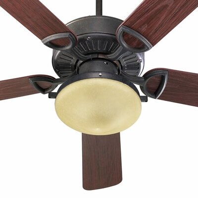 52 Estate 5-Blade Patio Ceiling Fan Finish: Toasted Sienna with Rosewood Blades