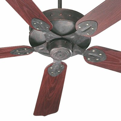 52 Hudson 5-Blade Patio Ceiling Fan Finish: Toasted Sienna with Rosewood Blades