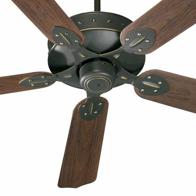 52 Hudson 5-Blade Patio Ceiling Fan Finish: Old World with Walnut Blades