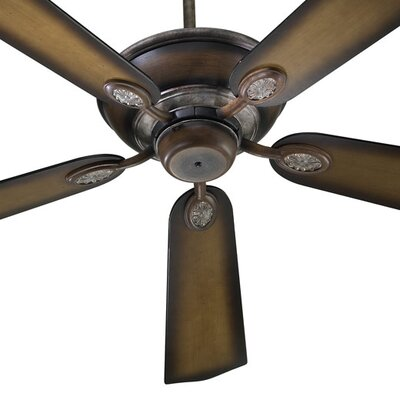 52 Kingsley 5-Blade Ceiling Fan Finish: Mystic Silver with Mystic Silver / Pecan Blades