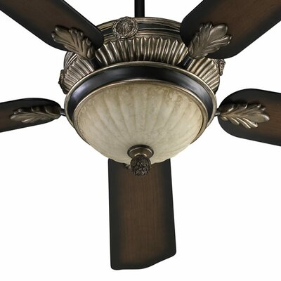 52 Galloway 5-Blade Ceiling Fan with Remote Finish: Old World with Antique Flemish