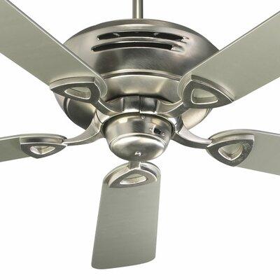 52 Hoffman 5-Blade Ceiling Fan Finish: Satin Nickel with Satin Nickel / Walnut Blades
