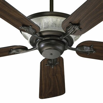 52 Roderick 5-Blade Ceiling Fan Finish: Oiled Bronze with Teak / Walnut Blades