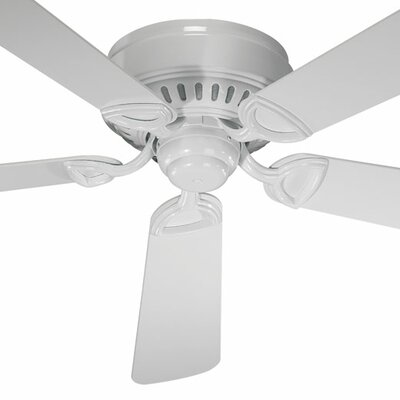 42 Medallion 5-Blade Ceiling Fan Finish: White with White Blades