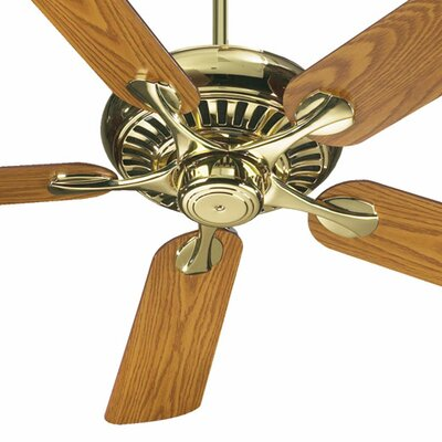 52 Pinnacle 5-Blade Ceiling Fan Finish: Polished Brass with Medium Oak/Rosewood Blades