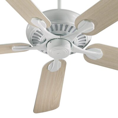 52 Pinnacle 5-Blade Ceiling Fan Finish: White with White/Washed Oak Blades