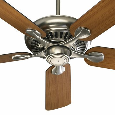 52 Pinnacle 5-Blade Ceiling Fan Finish: Satin Nickel with Teak/Walnut Blades
