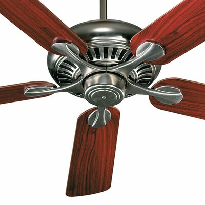 52 Pinnacle 5-Blade Ceiling Fan Finish: Satin Nickel with Dark Oak/Rosewood Blades