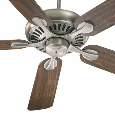 52 Pinnacle 5-Blade Ceiling Fan Finish: Antique Brass with Medium Oak/Rosewood Blades