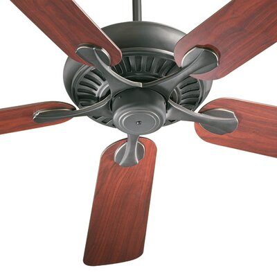 52 Pinnacle 5-Blade Ceiling Fan Finish: Old World with Rosewood/Walnut Blades