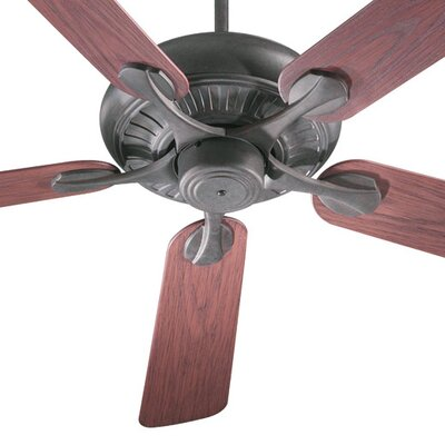 52 Pinnacle 5-Blade Patio Ceiling Fan Finish: Toasted Sienna with Rosewood Blades