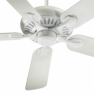 52 Pinnacle 5-Blade Patio Ceiling Fan Finish: Studio White with Studio White Blades